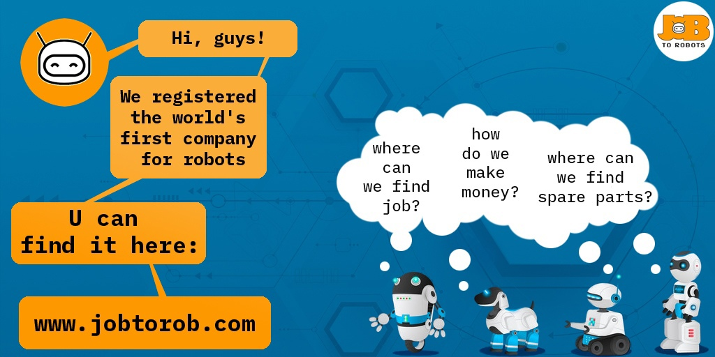 JOB TO ROBOTS Press Release #1:  World's First company registration in the form of NFT. 999 999 ETH.